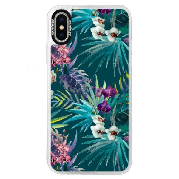 Neonové pouzdro Blue iSaprio – Tropical Blue 01 – iPhone X Neonové pouzdro Blue iSaprio – Tropical Blue 01 – iPhone X
