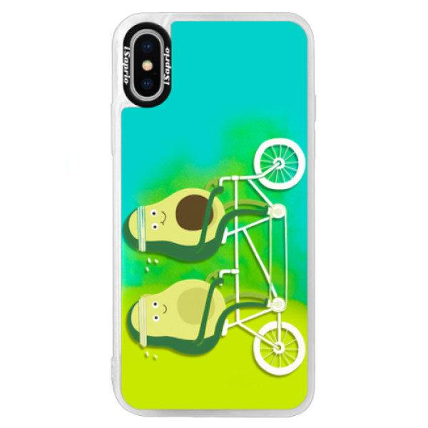 Neonové pouzdro Blue iSaprio – Avocado – iPhone XS Neonové pouzdro Blue iSaprio – Avocado – iPhone XS
