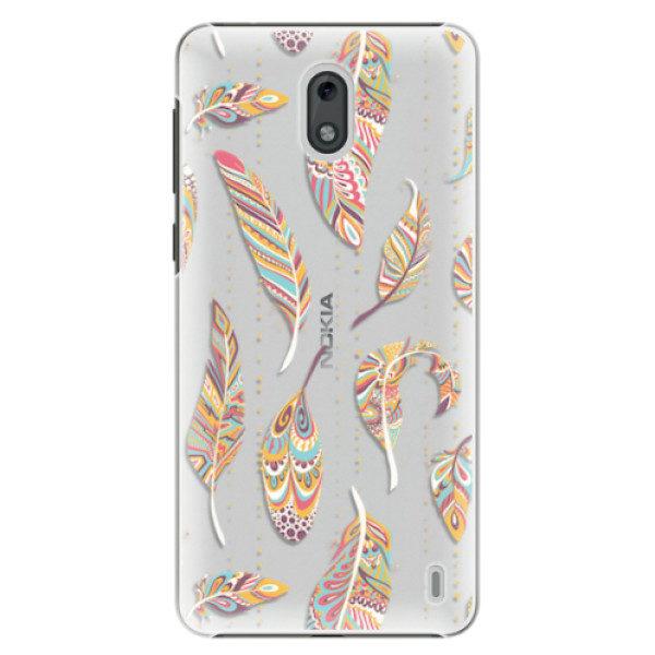 Plastové pouzdro iSaprio – Feather pattern 02 – Nokia 2 Plastové pouzdro iSaprio – Feather pattern 02 – Nokia 2