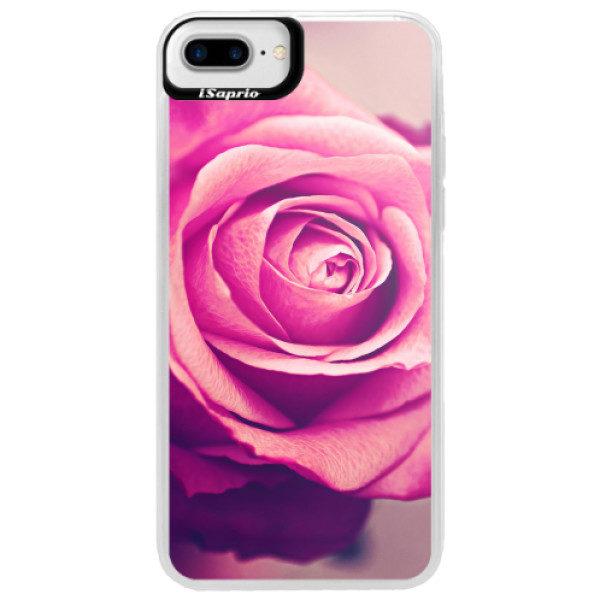 Neonové pouzdro Blue iSaprio – Pink Rose – iPhone 7 Plus Neonové pouzdro Blue iSaprio – Pink Rose – iPhone 7 Plus