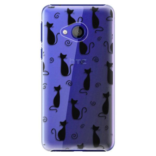 Plastové pouzdro iSaprio – Cat pattern 05 – black – HTC U Play Plastové pouzdro iSaprio – Cat pattern 05 – black – HTC U Play