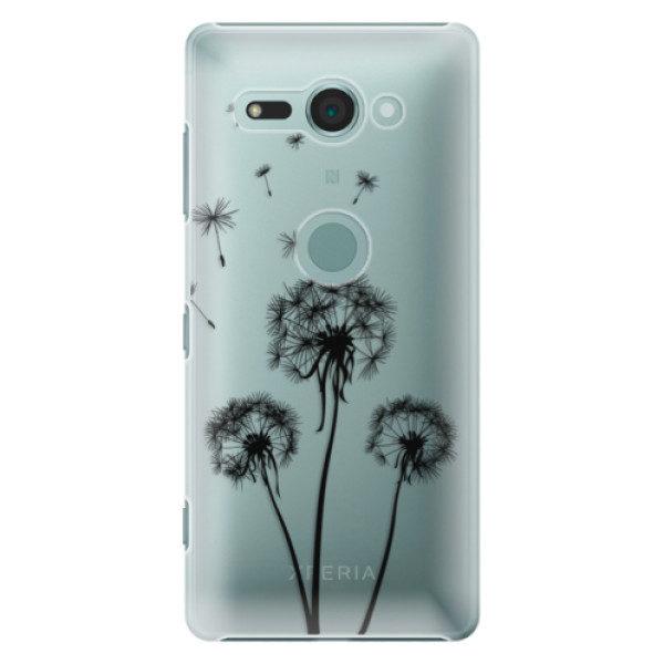Plastové pouzdro iSaprio – Three Dandelions – black – Sony Xperia XZ2 Compact Plastové pouzdro iSaprio – Three Dandelions – black – Sony Xperia XZ2 Compact