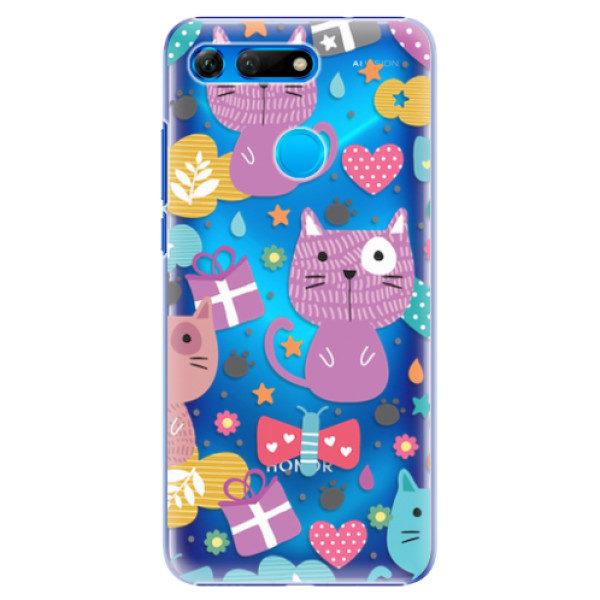 Plastové pouzdro iSaprio – Cat pattern 01 – Huawei Honor View 20 Plastové pouzdro iSaprio – Cat pattern 01 – Huawei Honor View 20