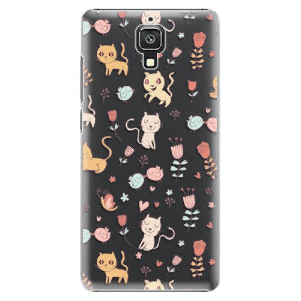 Plastové pouzdro iSaprio – Cat pattern 02 – Xiaomi Mi4 Plastové pouzdro iSaprio – Cat pattern 02 – Xiaomi Mi4