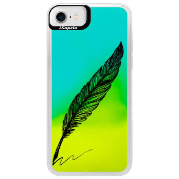Neonové pouzdro Blue iSaprio – Writing By Feather – black – iPhone 7 Neonové pouzdro Blue iSaprio – Writing By Feather – black – iPhone 7