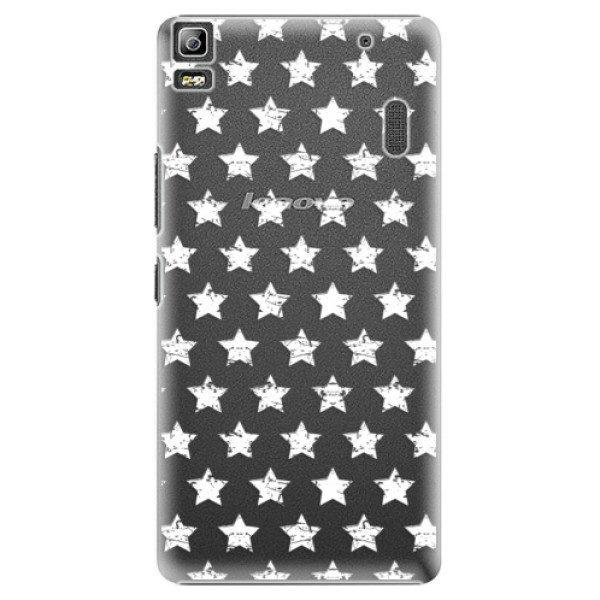 Plastové pouzdro iSaprio – Stars Pattern – white – Lenovo A7000 Plastové pouzdro iSaprio – Stars Pattern – white – Lenovo A7000