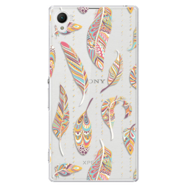 Plastové pouzdro iSaprio – Feather pattern 02 – Sony Xperia Z1 Plastové pouzdro iSaprio – Feather pattern 02 – Sony Xperia Z1