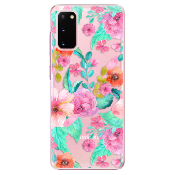 Plastové pouzdro iSaprio – Flower Pattern 01 – Samsung Galaxy S20 Plastové pouzdro iSaprio – Flower Pattern 01 – Samsung Galaxy S20