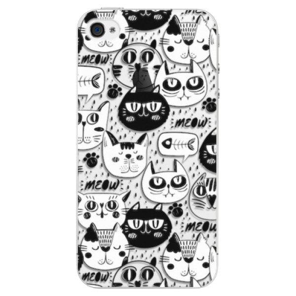 Plastové pouzdro iSaprio – Cat pattern 03 – iPhone 4/4S Plastové pouzdro iSaprio – Cat pattern 03 – iPhone 4/4S