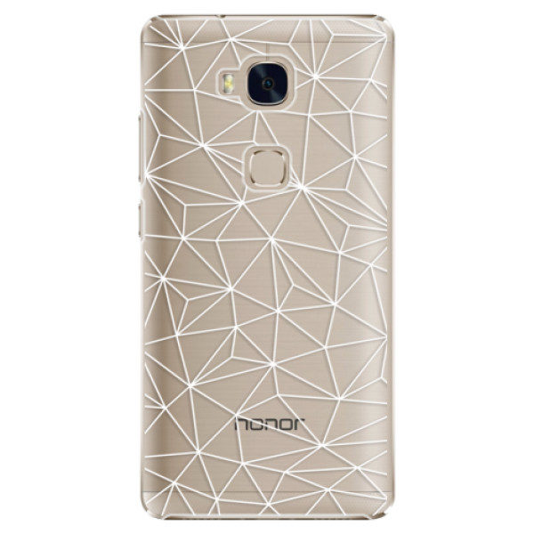 Plastové pouzdro iSaprio – Abstract Triangles 03 – white – Huawei Honor 5X Plastové pouzdro iSaprio – Abstract Triangles 03 – white – Huawei Honor 5X