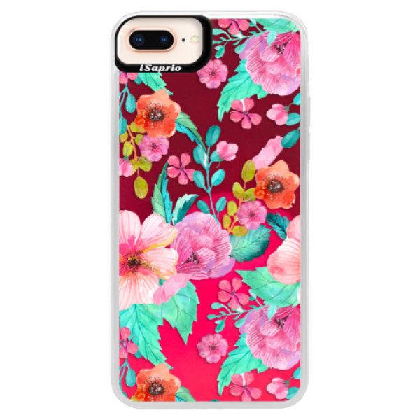 Neonové pouzdro Pink iSaprio – Flower Pattern 01 – iPhone 8 Plus Neonové pouzdro Pink iSaprio – Flower Pattern 01 – iPhone 8 Plus