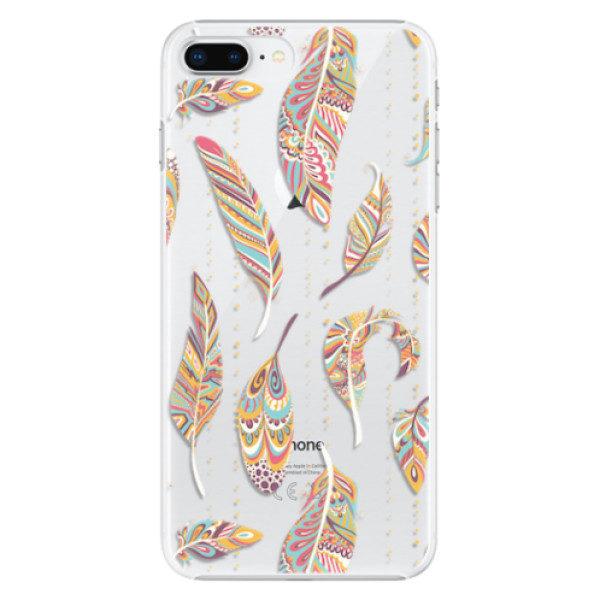 Plastové pouzdro iSaprio – Feather pattern 02 – iPhone 8 Plus Plastové pouzdro iSaprio – Feather pattern 02 – iPhone 8 Plus