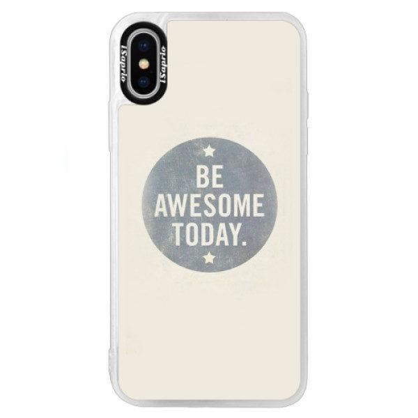 Neonové pouzdro Blue iSaprio – Awesome 02 – iPhone XS Neonové pouzdro Blue iSaprio – Awesome 02 – iPhone XS