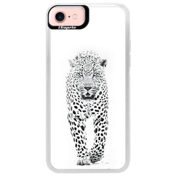 Neonové pouzdro Pink iSaprio – White Jaguar – iPhone 7 Neonové pouzdro Pink iSaprio – White Jaguar – iPhone 7