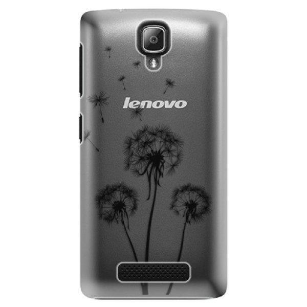 Plastové pouzdro iSaprio – Three Dandelions – black – Lenovo A1000 Plastové pouzdro iSaprio – Three Dandelions – black – Lenovo A1000