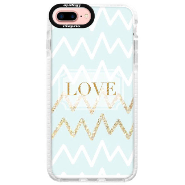 Silikonové pouzdro Bumper iSaprio – GoldLove – iPhone 7 Plus Silikonové pouzdro Bumper iSaprio – GoldLove – iPhone 7 Plus