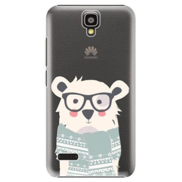 Plastové pouzdro iSaprio – Bear with Scarf – Huawei Ascend Y5 Plastové pouzdro iSaprio – Bear with Scarf – Huawei Ascend Y5