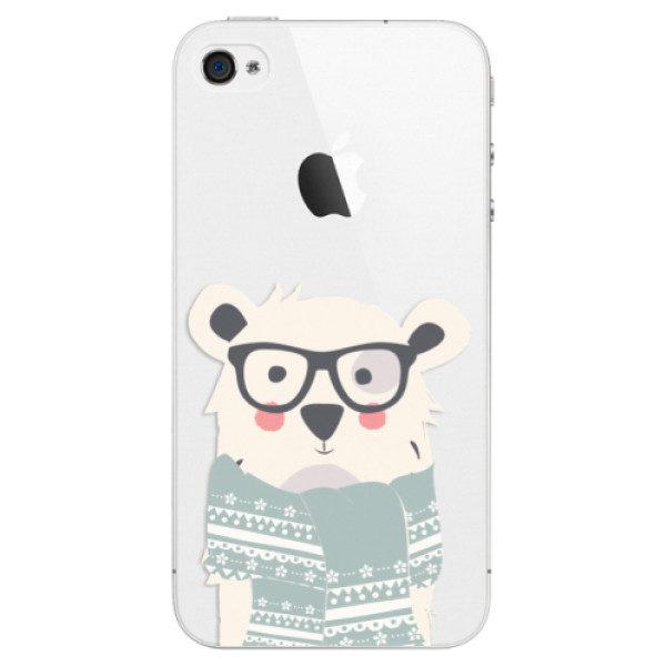 Plastové pouzdro iSaprio – Bear with Scarf – iPhone 4/4S Plastové pouzdro iSaprio – Bear with Scarf – iPhone 4/4S