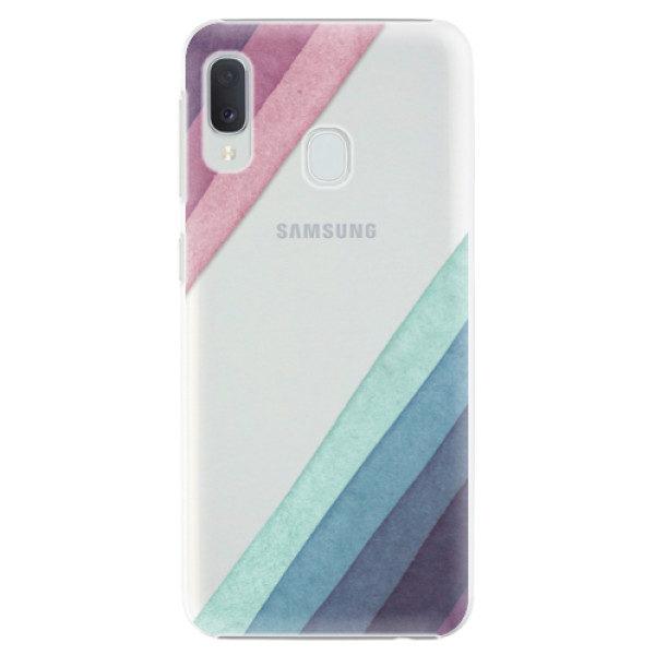 Plastové pouzdro iSaprio – Glitter Stripes 01 – Samsung Galaxy A20e Plastové pouzdro iSaprio – Glitter Stripes 01 – Samsung Galaxy A20e