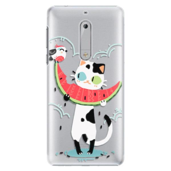 Plastové pouzdro iSaprio – Cat with melon – Nokia 5 Plastové pouzdro iSaprio – Cat with melon – Nokia 5