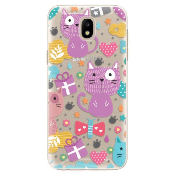 Plastové pouzdro iSaprio – Cat pattern 01 – Samsung Galaxy J5 2017 Plastové pouzdro iSaprio – Cat pattern 01 – Samsung Galaxy J5 2017