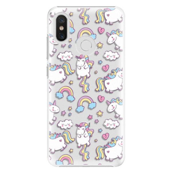 Plastové pouzdro iSaprio – Unicorn pattern 02 – Xiaomi Mi 8 Plastové pouzdro iSaprio – Unicorn pattern 02 – Xiaomi Mi 8