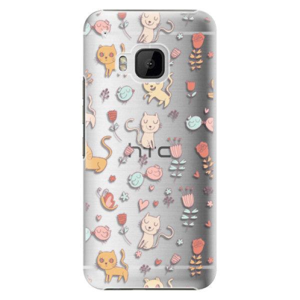 Plastové pouzdro iSaprio – Cat pattern 02 – HTC One M9 Plastové pouzdro iSaprio – Cat pattern 02 – HTC One M9
