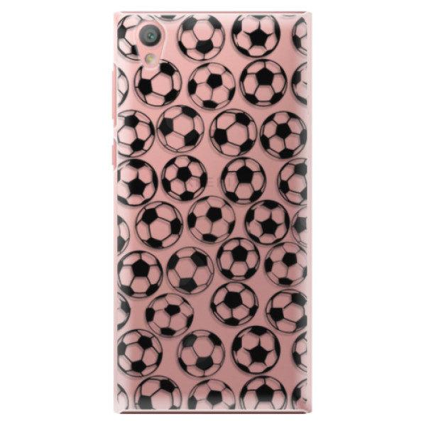 Plastové pouzdro iSaprio – Football pattern – black – Sony Xperia L1 Plastové pouzdro iSaprio – Football pattern – black – Sony Xperia L1