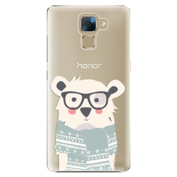 Plastové pouzdro iSaprio – Bear with Scarf – Huawei Honor 7 Plastové pouzdro iSaprio – Bear with Scarf – Huawei Honor 7