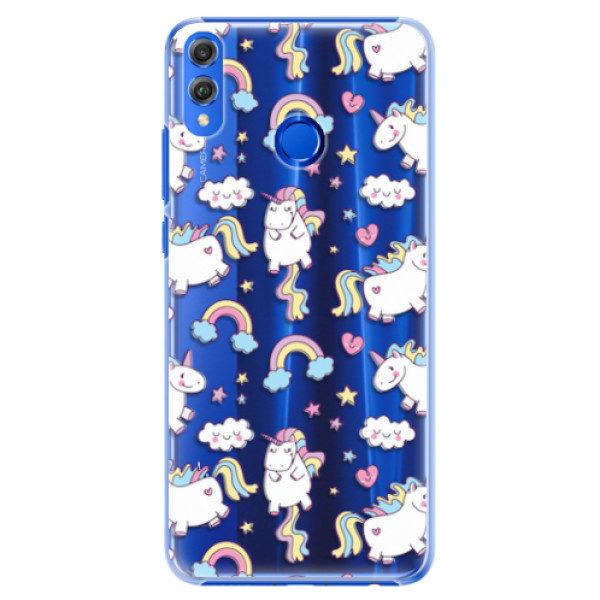 Plastové pouzdro iSaprio – Unicorn pattern 02 – Huawei Honor 8X Plastové pouzdro iSaprio – Unicorn pattern 02 – Huawei Honor 8X