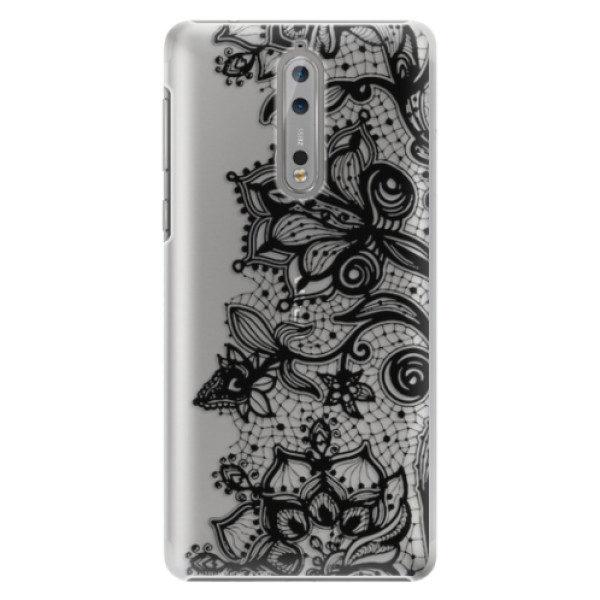 Plastové pouzdro iSaprio – Black Lace – Nokia 8 Plastové pouzdro iSaprio – Black Lace – Nokia 8