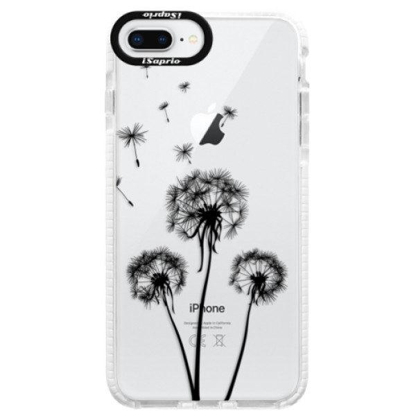 Silikonové pouzdro Bumper iSaprio – Three Dandelions – black – iPhone 8 Plus Silikonové pouzdro Bumper iSaprio – Three Dandelions – black – iPhone 8 Plus