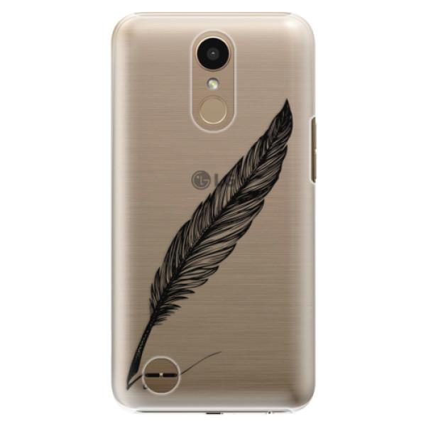 Plastové pouzdro iSaprio – Writing By Feather – black – LG K10 2017 Plastové pouzdro iSaprio – Writing By Feather – black – LG K10 2017