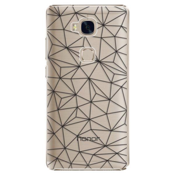 Plastové pouzdro iSaprio – Abstract Triangles 03 – black – Huawei Honor 5X Plastové pouzdro iSaprio – Abstract Triangles 03 – black – Huawei Honor 5X