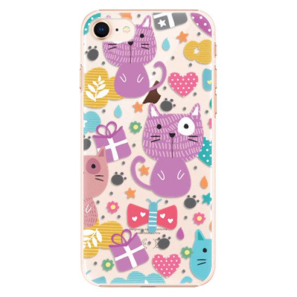 Plastové pouzdro iSaprio – Cat pattern 01 – iPhone 8 Plastové pouzdro iSaprio – Cat pattern 01 – iPhone 8