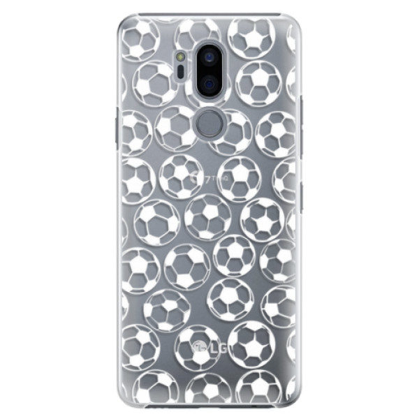 Plastové pouzdro iSaprio – Football pattern – white – LG G7 Plastové pouzdro iSaprio – Football pattern – white – LG G7