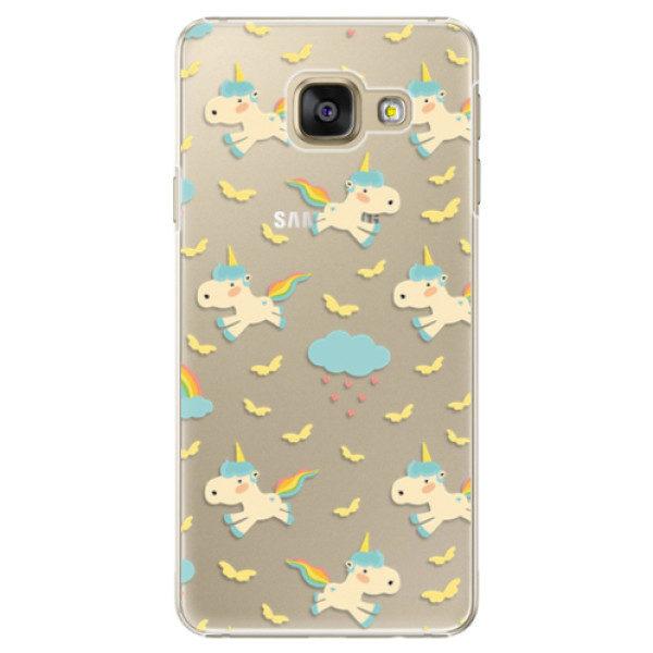 Plastové pouzdro iSaprio – Unicorn pattern 01 – Samsung Galaxy A3 2016 Plastové pouzdro iSaprio – Unicorn pattern 01 – Samsung Galaxy A3 2016