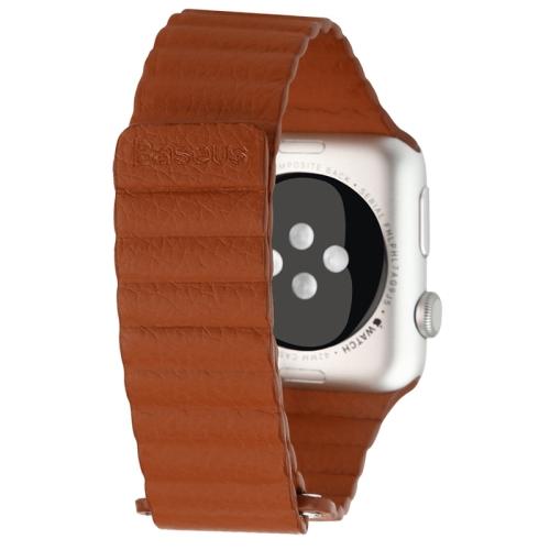 Kožený pásek / řemínek Baseus Magnetic Leather pro Apple Watch 42mm hnědý Kožený pásek / řemínek Baseus Magnetic Leather pro Apple Watch 42mm hnědý