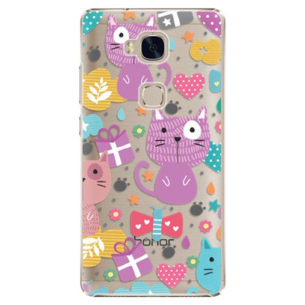 Plastové pouzdro iSaprio – Cat pattern 01 – Huawei Honor 5X Plastové pouzdro iSaprio – Cat pattern 01 – Huawei Honor 5X
