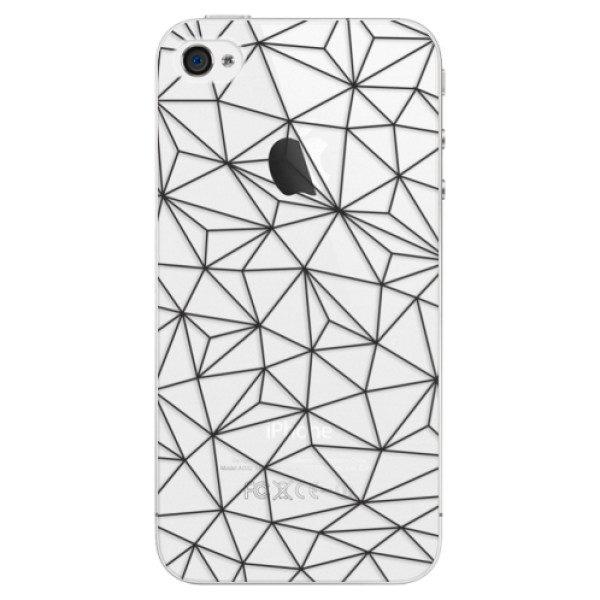 Plastové pouzdro iSaprio – Abstract Triangles 03 – black – iPhone 4/4S Plastové pouzdro iSaprio – Abstract Triangles 03 – black – iPhone 4/4S