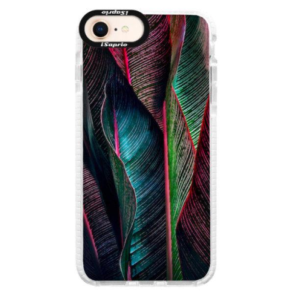 Silikonové pouzdro Bumper iSaprio – Black Leaves – iPhone 8 Silikonové pouzdro Bumper iSaprio – Black Leaves – iPhone 8