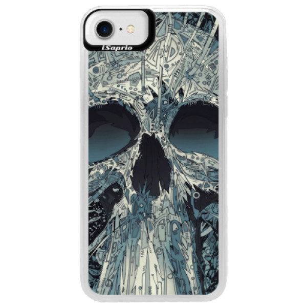 Neonové pouzdro Blue iSaprio – Abstract Skull – iPhone 7 Neonové pouzdro Blue iSaprio – Abstract Skull – iPhone 7