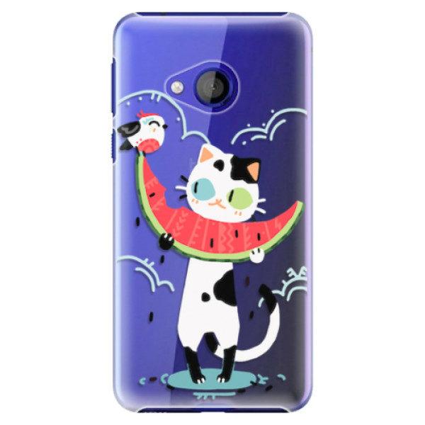 Plastové pouzdro iSaprio – Cat with melon – HTC U Play Plastové pouzdro iSaprio – Cat with melon – HTC U Play