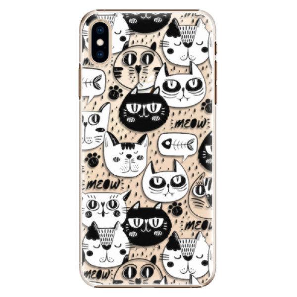 Plastové pouzdro iSaprio – Cat pattern 03 – iPhone XS Max Plastové pouzdro iSaprio – Cat pattern 03 – iPhone XS Max
