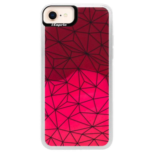 Neonové pouzdro Pink iSaprio – Abstract Triangles 03 – black – iPhone 8 Neonové pouzdro Pink iSaprio – Abstract Triangles 03 – black – iPhone 8