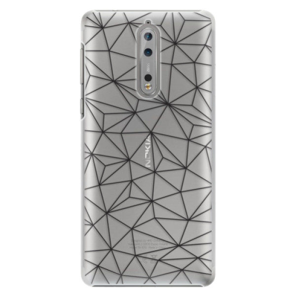 Plastové pouzdro iSaprio – Abstract Triangles 03 – black – Nokia 8 Plastové pouzdro iSaprio – Abstract Triangles 03 – black – Nokia 8