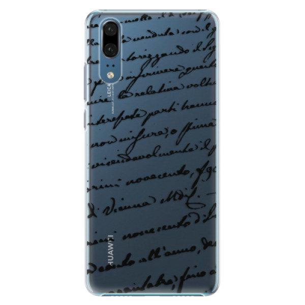 Plastové pouzdro iSaprio – Handwriting 01 – black – Huawei P20 Plastové pouzdro iSaprio – Handwriting 01 – black – Huawei P20