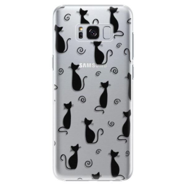 Plastové pouzdro iSaprio – Cat pattern 05 – black – Samsung Galaxy S8 Plus Plastové pouzdro iSaprio – Cat pattern 05 – black – Samsung Galaxy S8 Plus