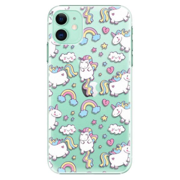 Plastové pouzdro iSaprio – Unicorn pattern 02 – iPhone 11 Plastové pouzdro iSaprio – Unicorn pattern 02 – iPhone 11