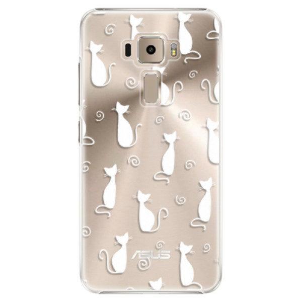 Plastové pouzdro iSaprio – Cat pattern 05 – white – Asus ZenFone 3 ZE520KL Plastové pouzdro iSaprio – Cat pattern 05 – white – Asus ZenFone 3 ZE520KL